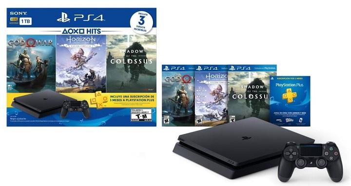 Consola Ps4 Slim 1 Tb 3 Juegos 3 Meses Plus Navidad 2018